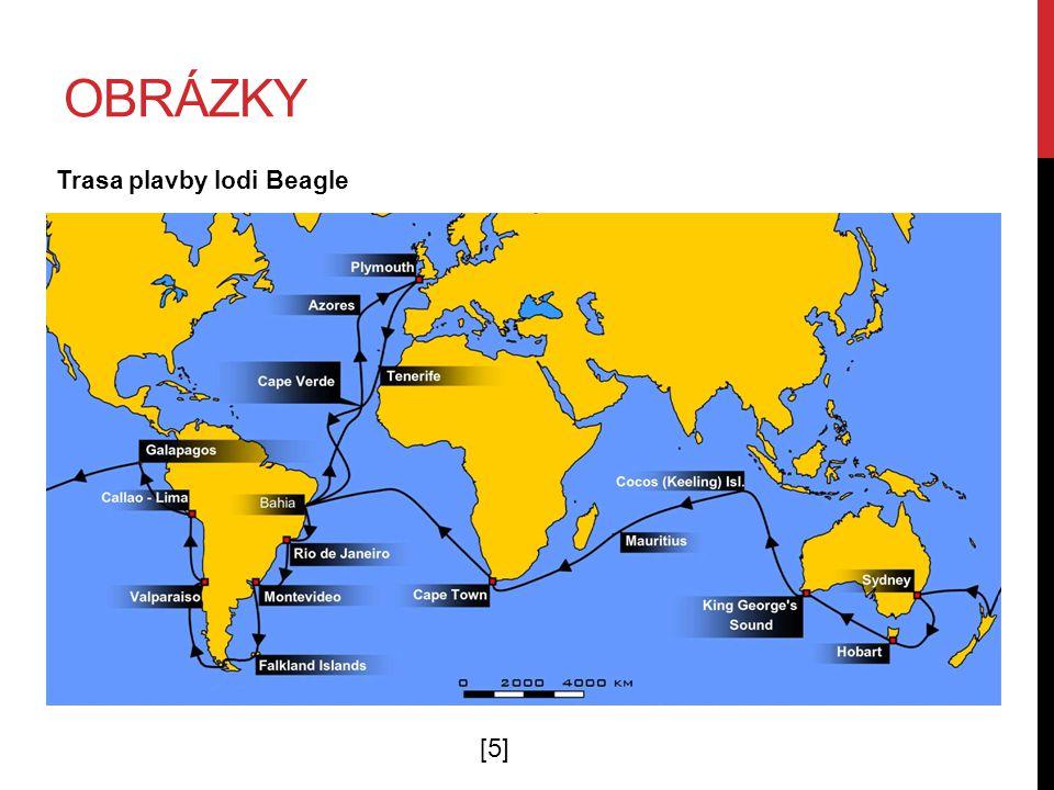OBRÁZKY Trasa plavby lodi Beagle [5][5]
