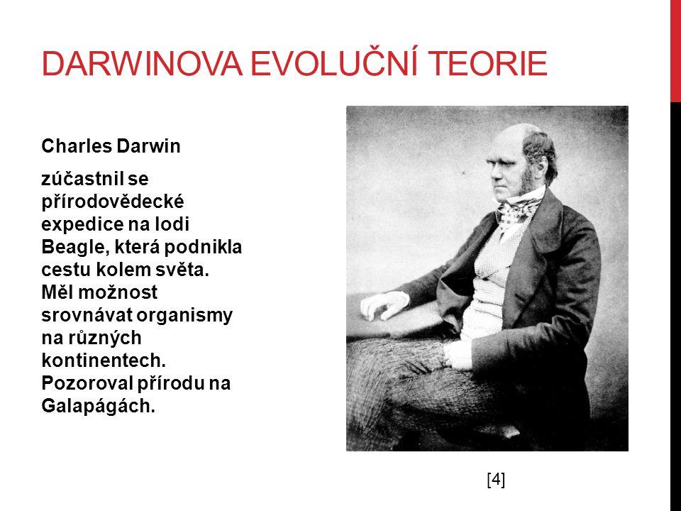 DARWINOVA EVOLUČNÍ TEORIE Charles Darwin zúčastnil se přírodovědecké expedice na lodi Beagle, která podnikla cestu kolem světa.