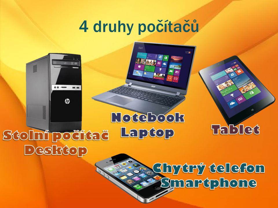 4 druhy počítačů