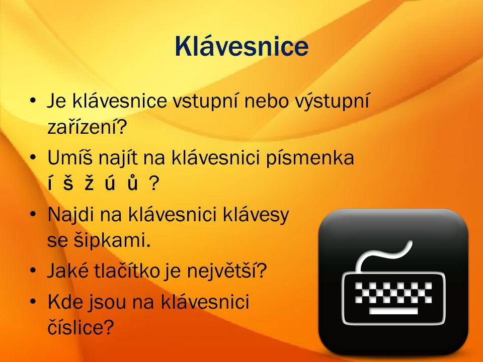 Informatika pro 5. ročník Klávesnice