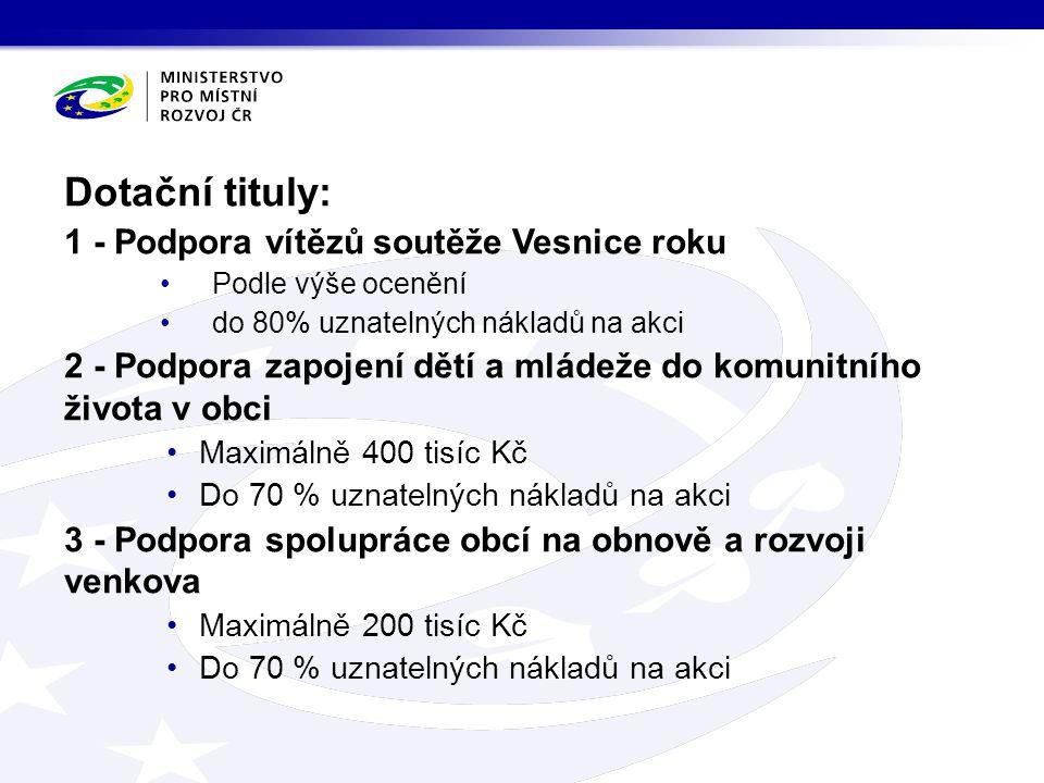 Podpora rozvoje pracovních příležitostí na území Ústeckého a Moravskoslezského kraje  Cíle podprogramu: vytvořit podmínky pro zřízení nových pracovních míst, snížit nezaměstnanost na území Ústeckého a Moravskoslezského kraje, zvýšit tak hospodářskou výkonnost těchto území.