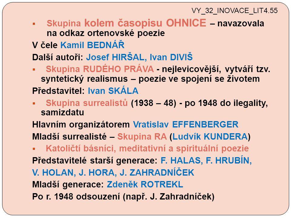  Poezie undergroundu První undergroundová generace: Egon BONDY - program tzv.