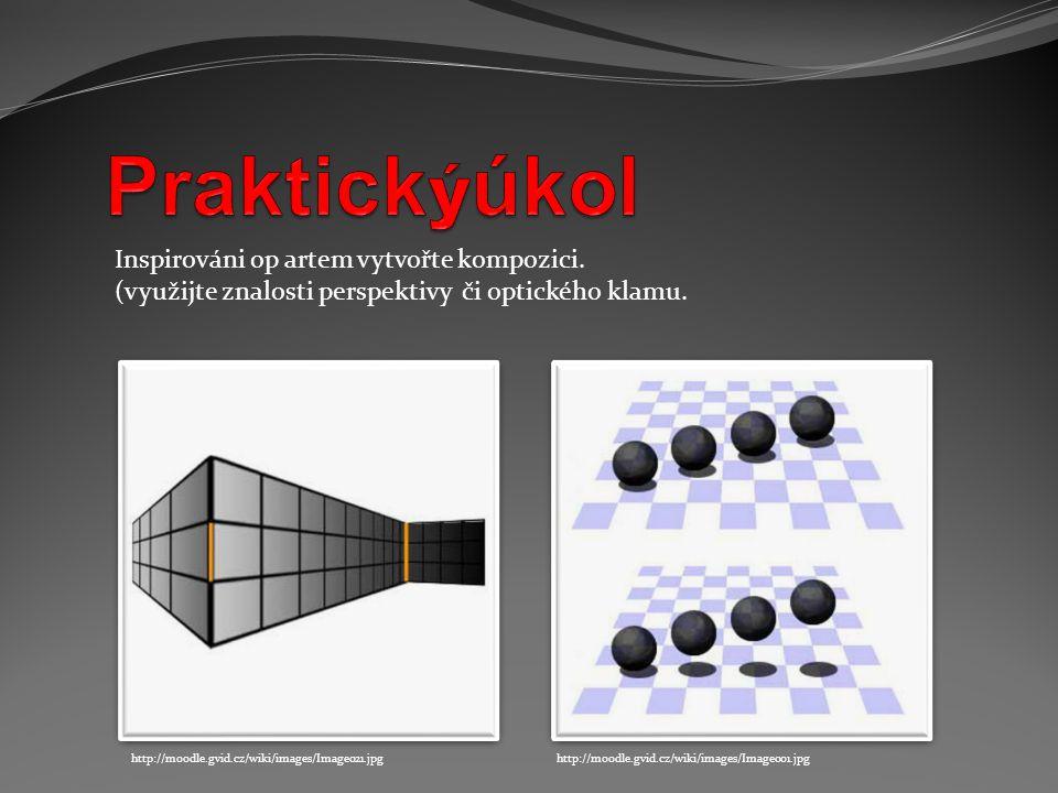 Inspirováni op artem vytvořte kompozici. (využijte znalosti perspektivy či optického klamu. http://moodle.gvid.cz/wiki/images/Image001.jpghttp://moodl
