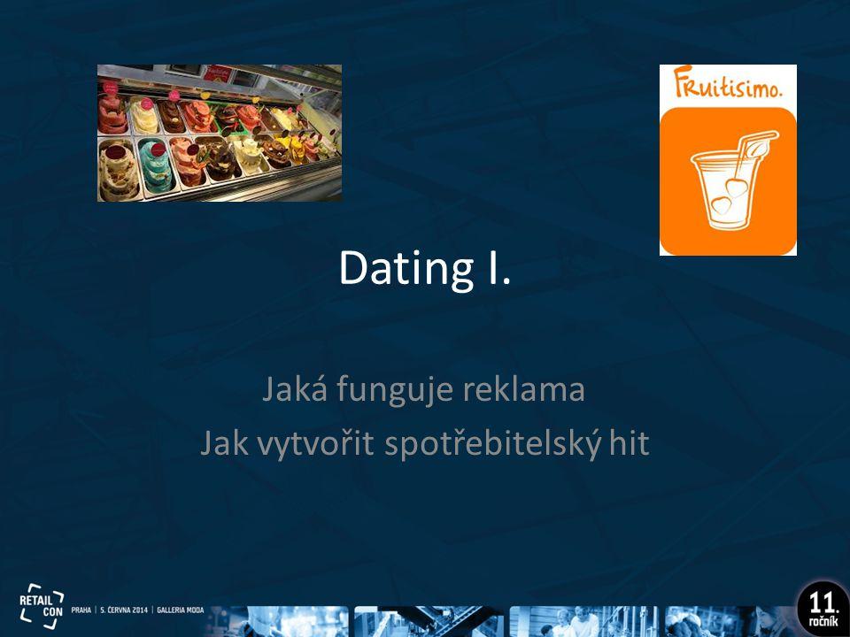 Dating I. Jaká funguje reklama Jak vytvořit spotřebitelský hit