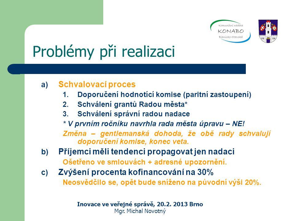 Problémy při realizaci Inovace ve veřejné správě, 20.2.