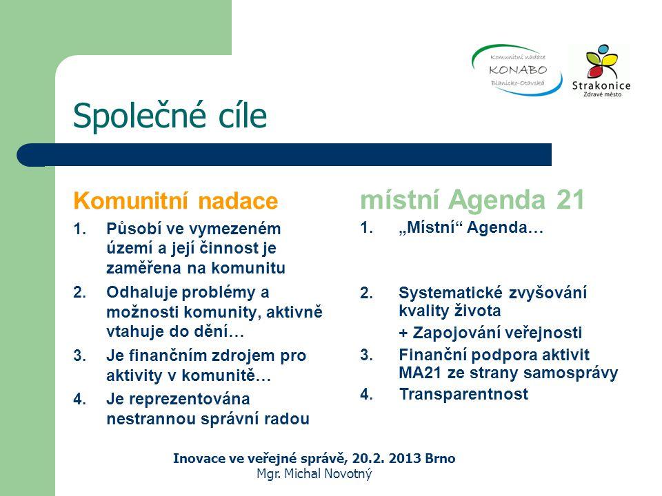 Společné cíle Komunitní nadace 1.