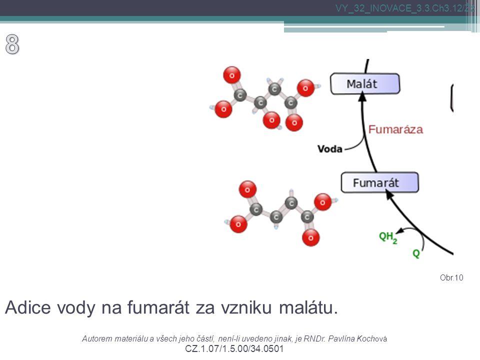 Adice vody na fumarát za vzniku malátu. Autorem materiálu a všech jeho částí, není-li uvedeno jinak, je RNDr. Pavlína Koch ová CZ.1.07/1.5.00/34.0501