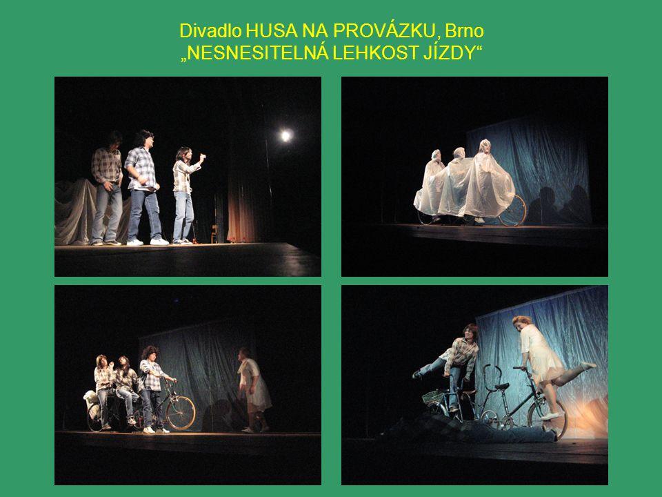 """Divadlo HUSA NA PROVÁZKU, Brno """"NESNESITELNÁ LEHKOST JÍZDY"""