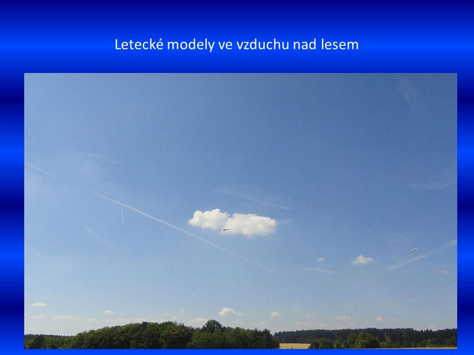 Poslední přípravy letounů před společným startem modely pilotují p. Šimeček a p. Heroldek