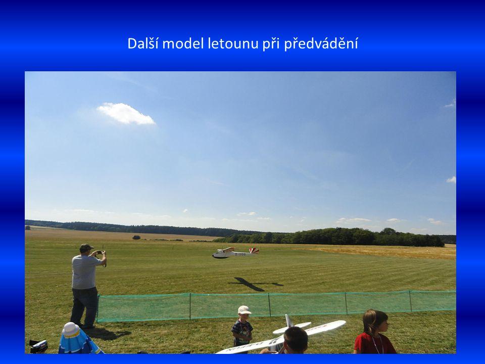 Pohled na část leteckých modelů