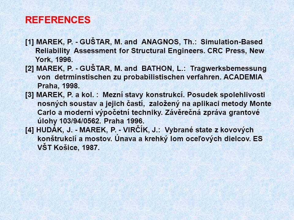 REFERENCES [1] MAREK, P. - GUŠTAR, M.