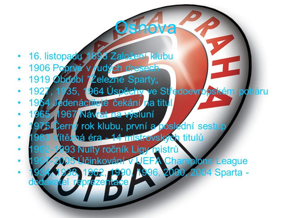 1934, 1938, 1962, 1990, 1996, 2000, 2004 Sparta - dodavatel reprezentace Sparta povětšinou spolu se Slávií vždy tvořila základ národního týmu a její hráči proto nechyběli u největších úspěchů československé i české reprezentace.