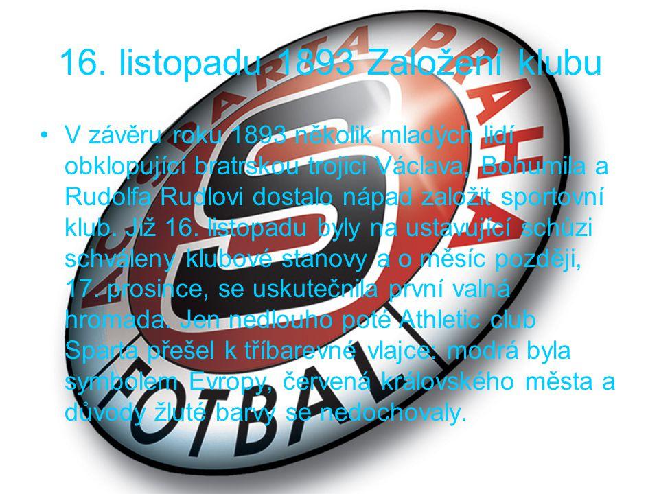 1906 Poprvé v rudých dresech V nejranější klubové historii nastupovali fotbalisté v černých dresech s velkým S na přední části.