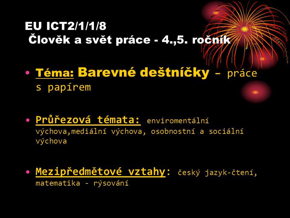 EU ICT2/1/1/8 Člověk a svět práce - 4.,5.