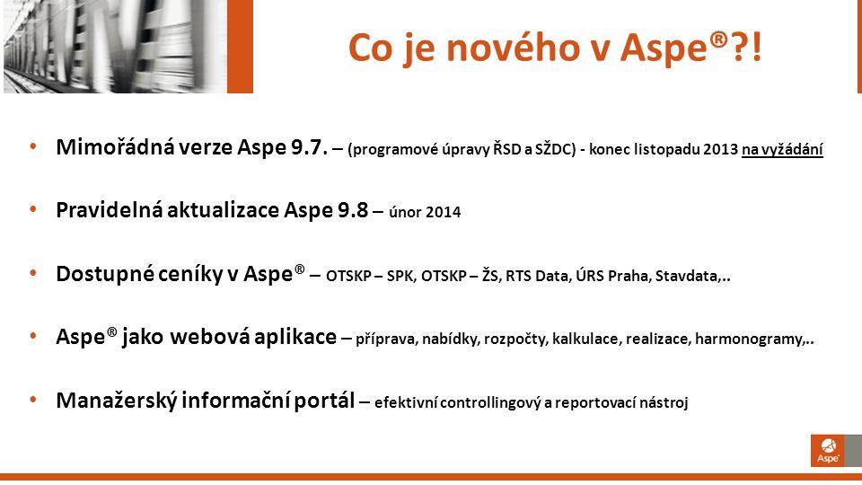 Mimořádná verze Aspe 9.7.