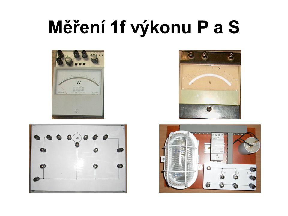 Měření 1f výkonu P a S
