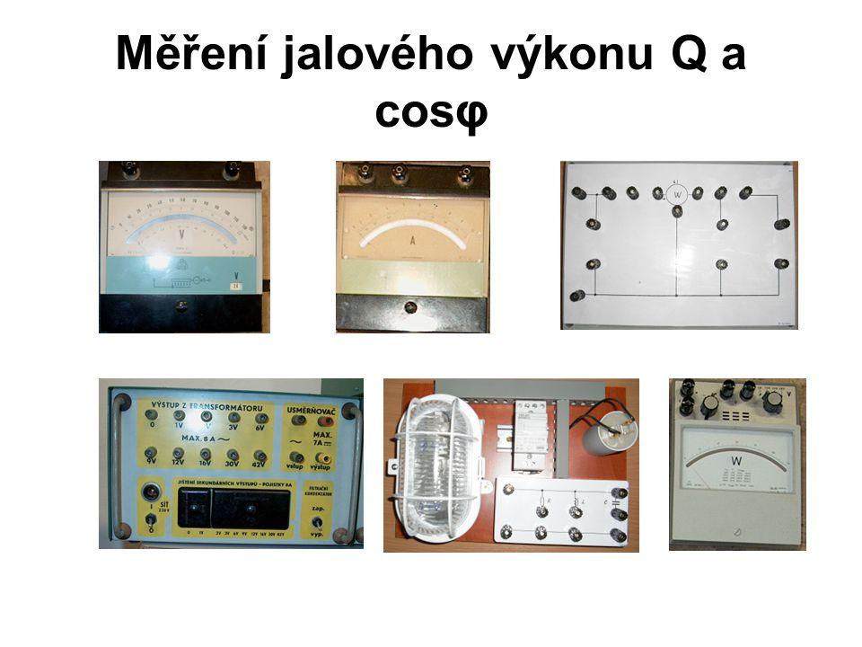 Měření jalového výkonu Q a cosφ