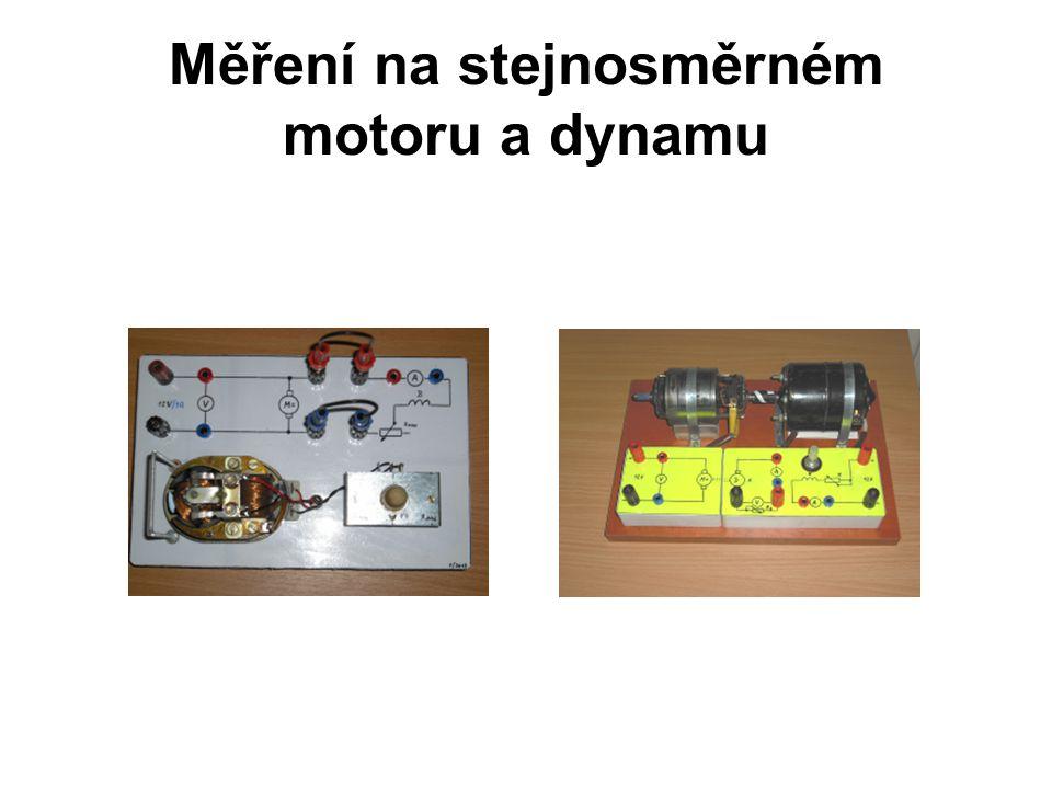Měření na stejnosměrném motoru a dynamu