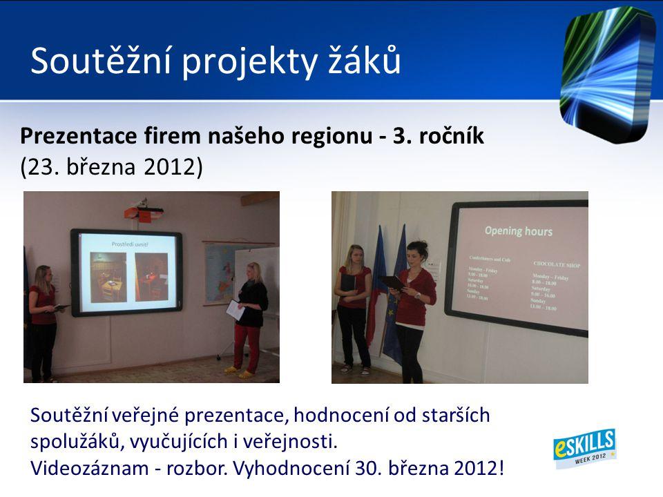 Soutěžní projekty žáků Prezentace firem našeho regionu - 3.
