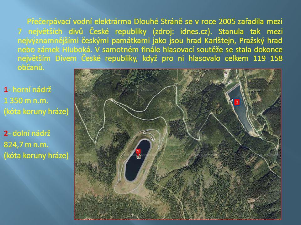 Přečerpávací vodní elektrárma Dlouhé Stráně se v roce 2005 zařadila mezi 7 největších divů České republiky (zdroj: idnes.cz).