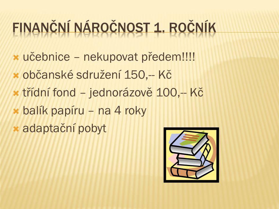  učebnice – nekupovat předem!!!.