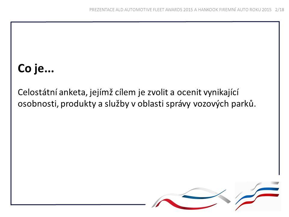 Co je... Celostátní anketa, jejímž cílem je zvolit a ocenit vynikající osobnosti, produkty a služby v oblasti správy vozových parků. PREZENTACE ALD AU