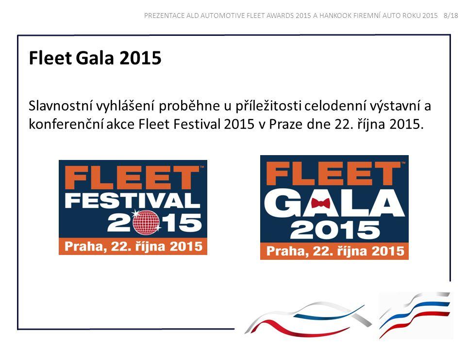Fleet Gala 2015 Slavnostní vyhlášení proběhne u příležitosti celodenní výstavní a konferenční akce Fleet Festival 2015 v Praze dne 22. října 2015. PRE
