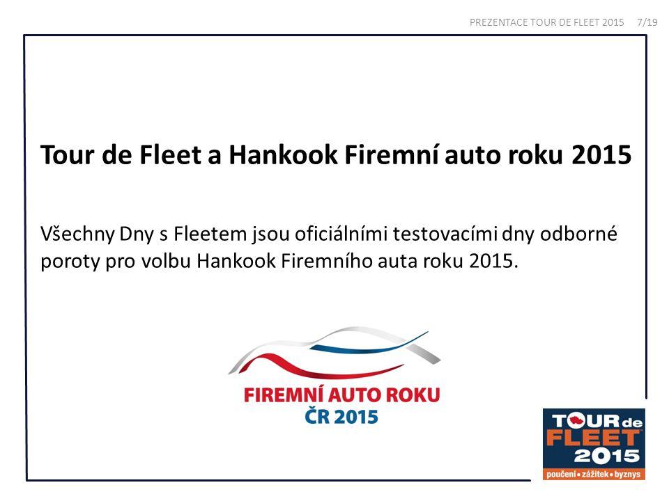 Tour de Fleet a Hankook Firemní auto roku 2015 Všechny Dny s Fleetem jsou oficiálními testovacími dny odborné poroty pro volbu Hankook Firemního auta roku 2015.