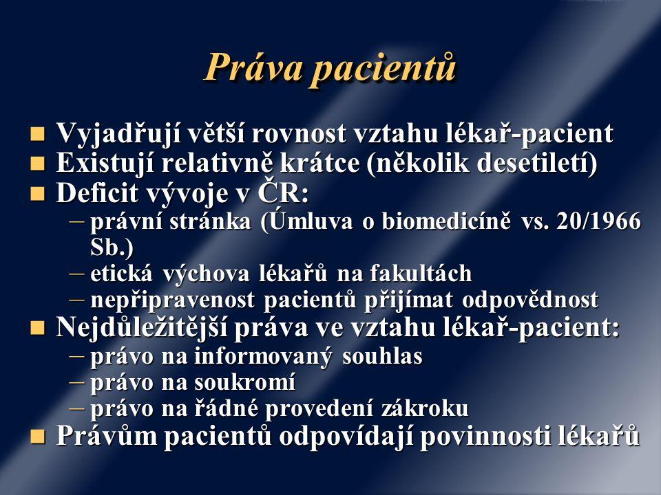 """Problémy v českém právu Důkazní obtíže Důkazní obtíže – Obtížný přístup pacienta k důkazům – Charakter lidského těla a problémy s příčinnou souvislostí Více možných příčin vzniku následku (chybou lékařů či """"samo od sebe ?) Více možných příčin vzniku následku (chybou lékařů či """"samo od sebe ?) Predispozice aneb egg shell skull Predispozice aneb egg shell skull – Příčinná souvislost v souhlasových sporech Kdyby byl býval poučen, byl by býval odmítl."""
