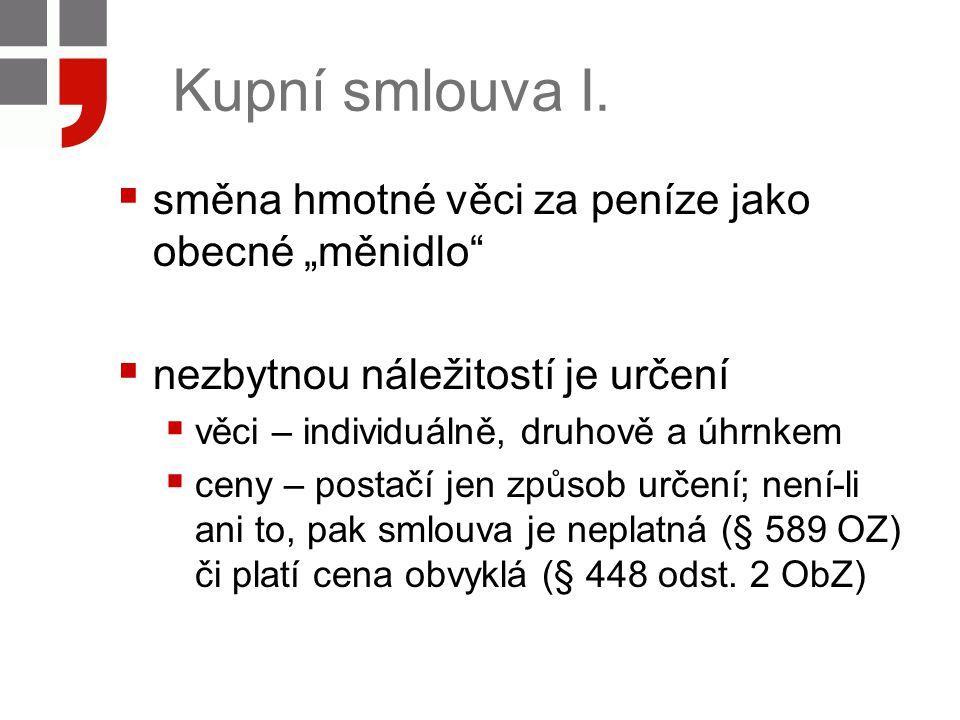 Kupní smlouva II.