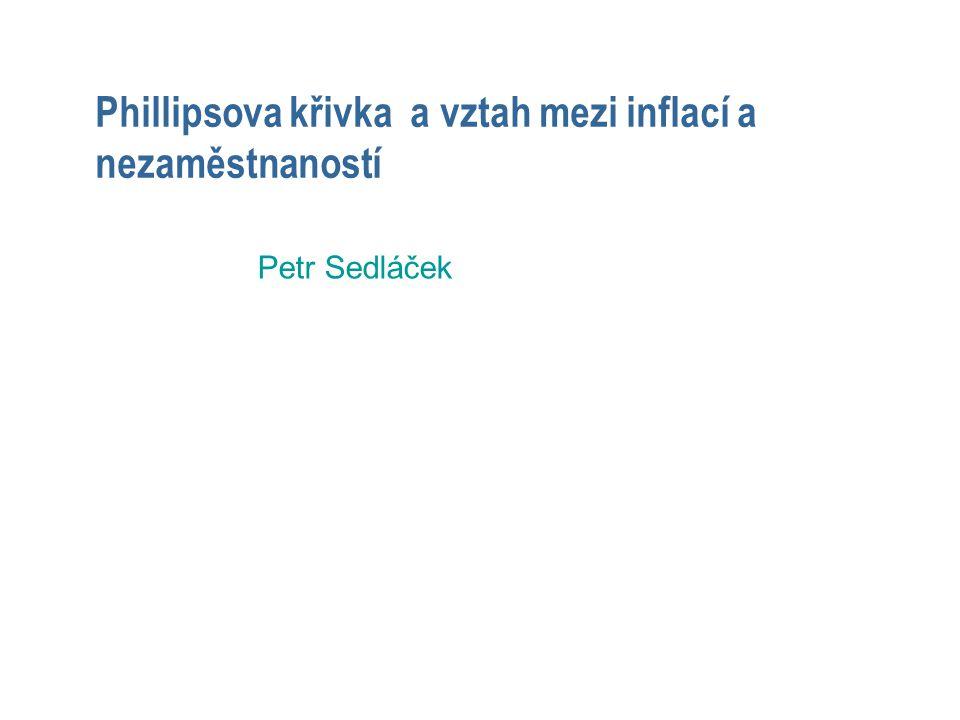Phillipsova křivka a vztah mezi inflací a nezaměstnaností Petr Sedláček