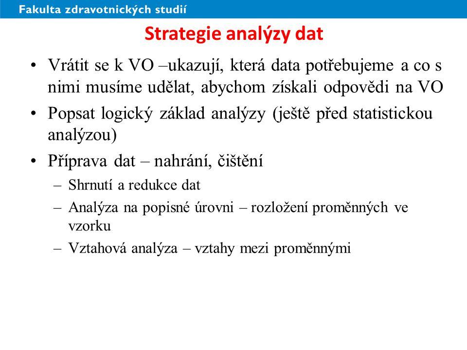 Strategie analýzy dat Zamysleli se autoři nad praktičností výstupů.