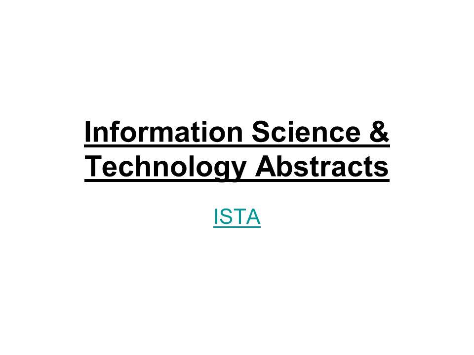 Vývoj: Neřízené volně tvořené předmětové termíny 1984 – deskriptory řízeného slovníku 1999 – Information Today –2002 – 2.