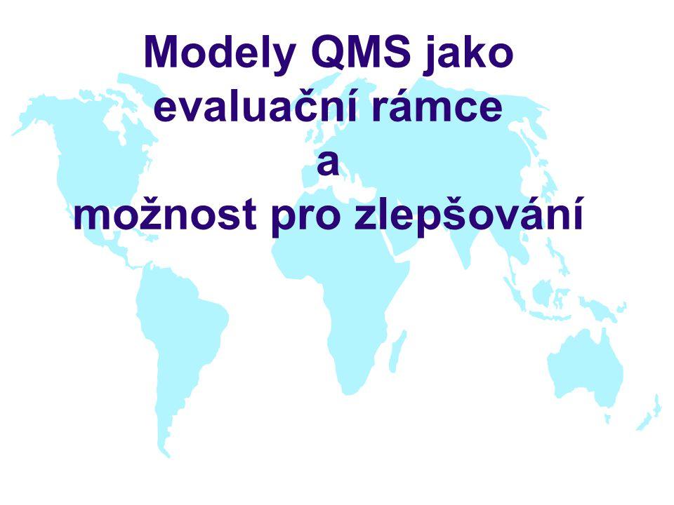 Modely QMS jako evaluační rámce a možnost pro zlepšování