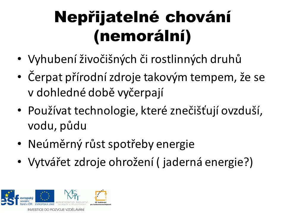 Etické postoje a ekologie (Josef Vavroušek) 1.