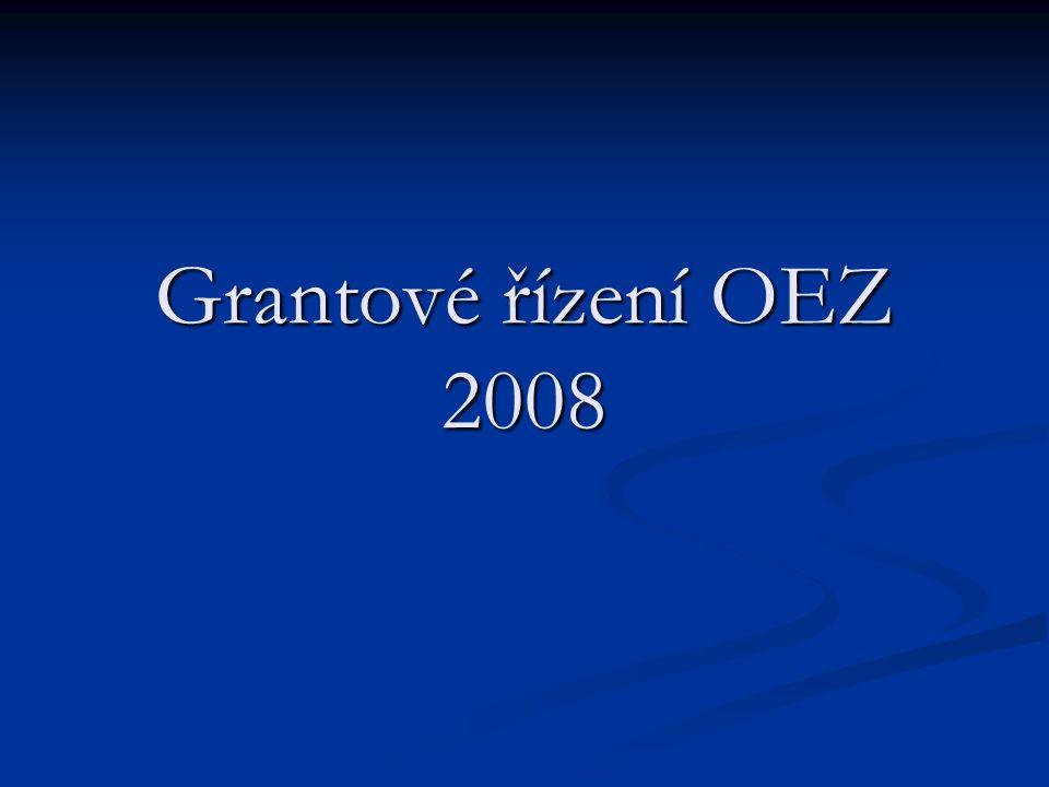 Grantové řízení OEZ 2008