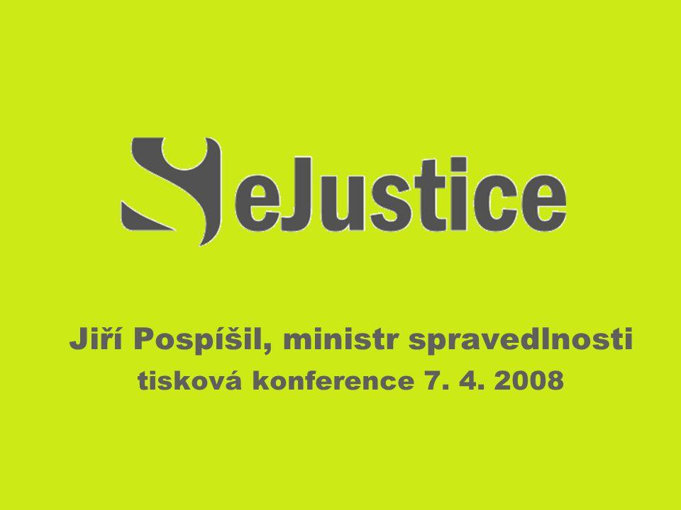 Jiří Pospíšil, ministr spravedlnosti tisková konference 7. 4. 2008