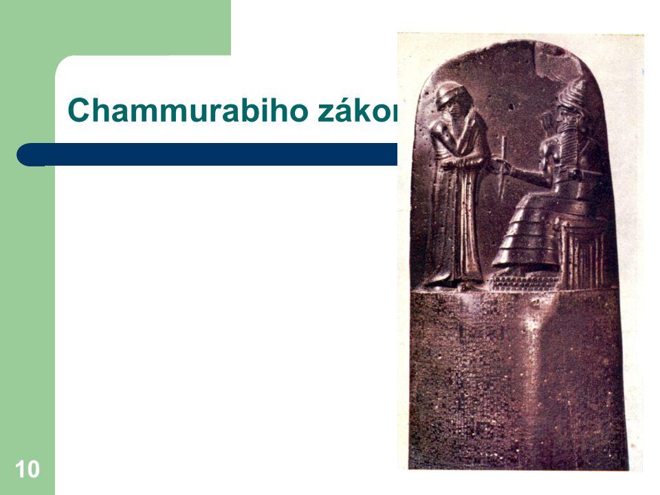 10 Chammurabiho zákoník
