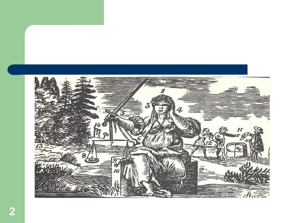 3 Symbolika spravedlnosti a práva Váhy Zavázané oči Meč Ruka na uchu Krychle Bezpečnost Obchod a smlouva Trest, po právu