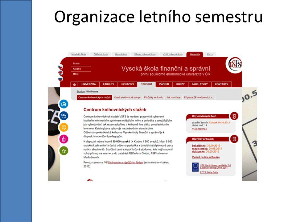 Organizace letního semestru