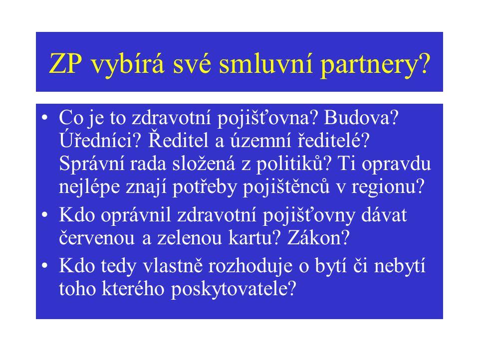 ZP vybírá své smluvní partnery. Co je to zdravotní pojišťovna.