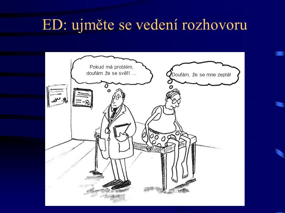ED: ujměte se vedení rozhovoru Pokud má problém, doufám že se svěří … Doufám, že se mne zeptá!