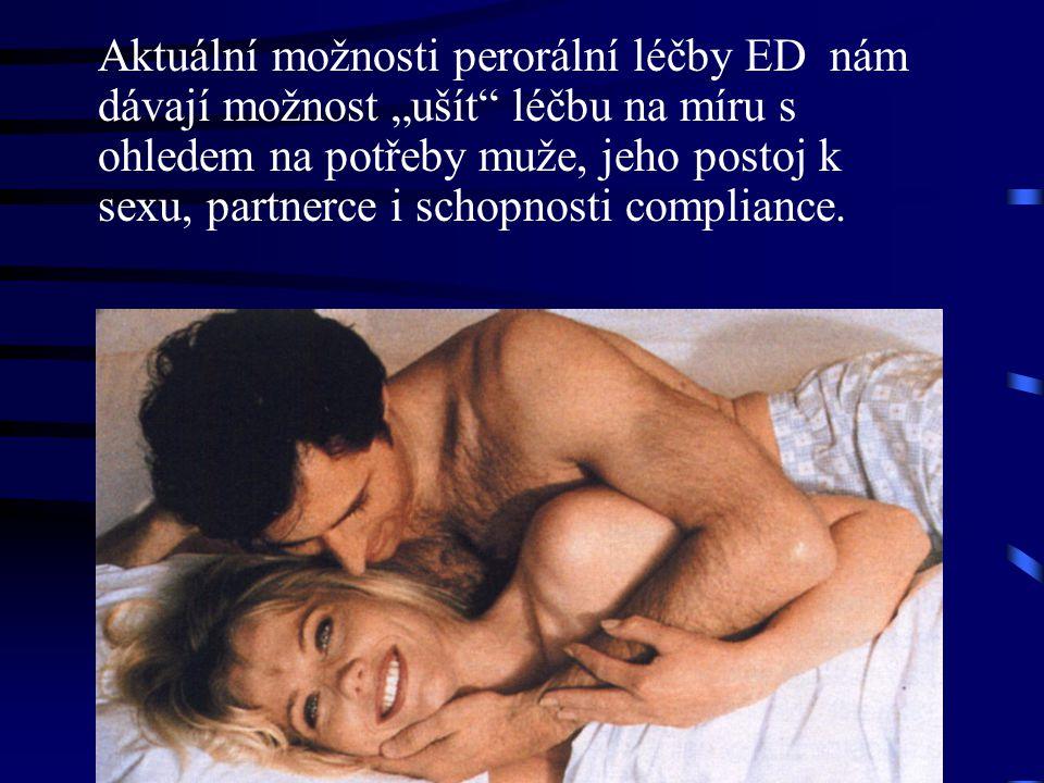 """Aktuální možnosti perorální léčby ED nám dávají možnost """"ušít"""" léčbu na míru s ohledem na potřeby muže, jeho postoj k sexu, partnerce i schopnosti com"""