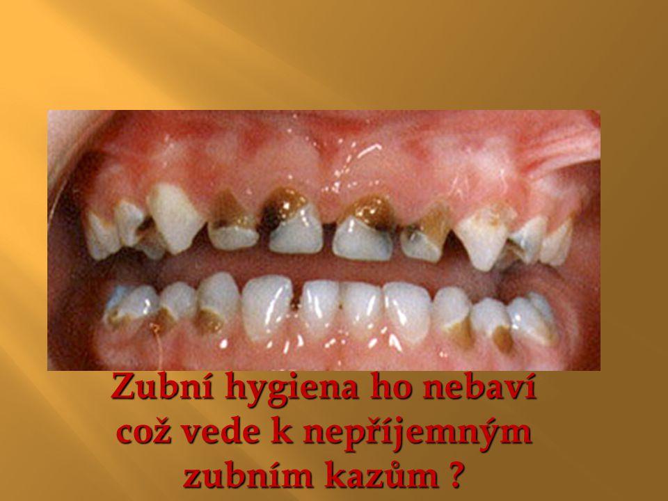 Zubní hygiena ho nebaví což vede k nepříjemným zubním kazům ?