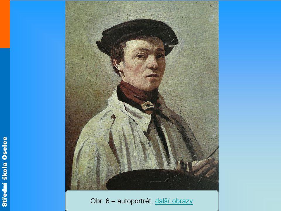 Střední škola Oselce Obr. 6 – autoportrét, další obrazydalší obrazy