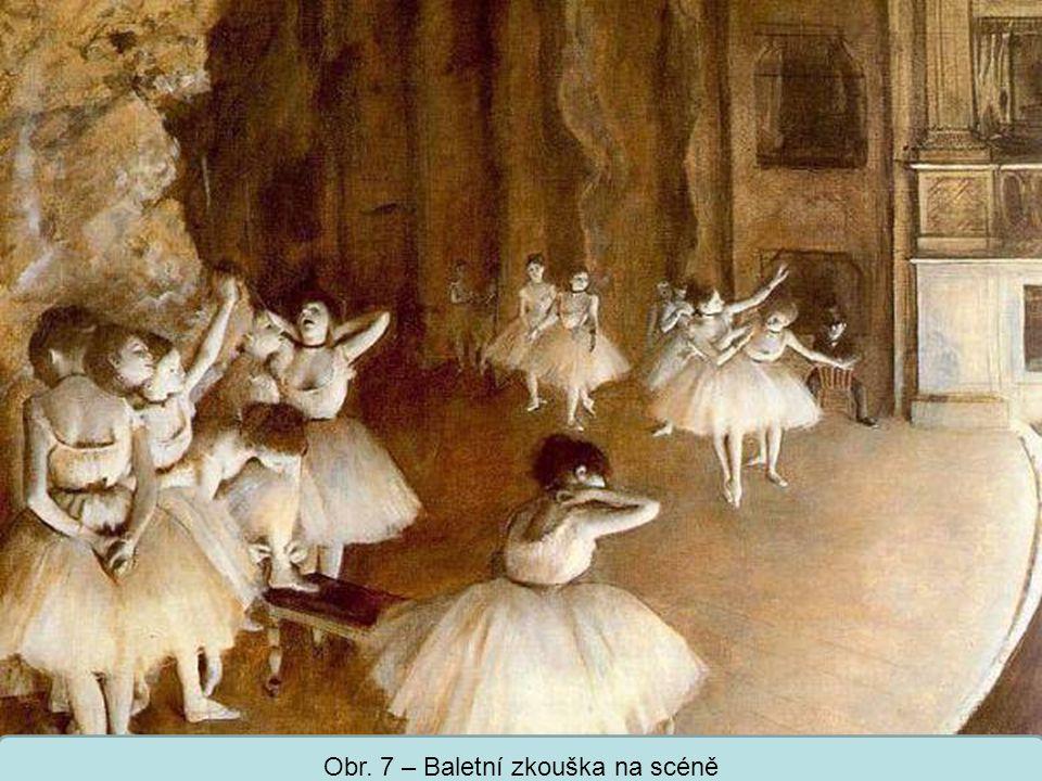 Střední škola Oselce Obr. 7 – Baletní zkouška na scéně