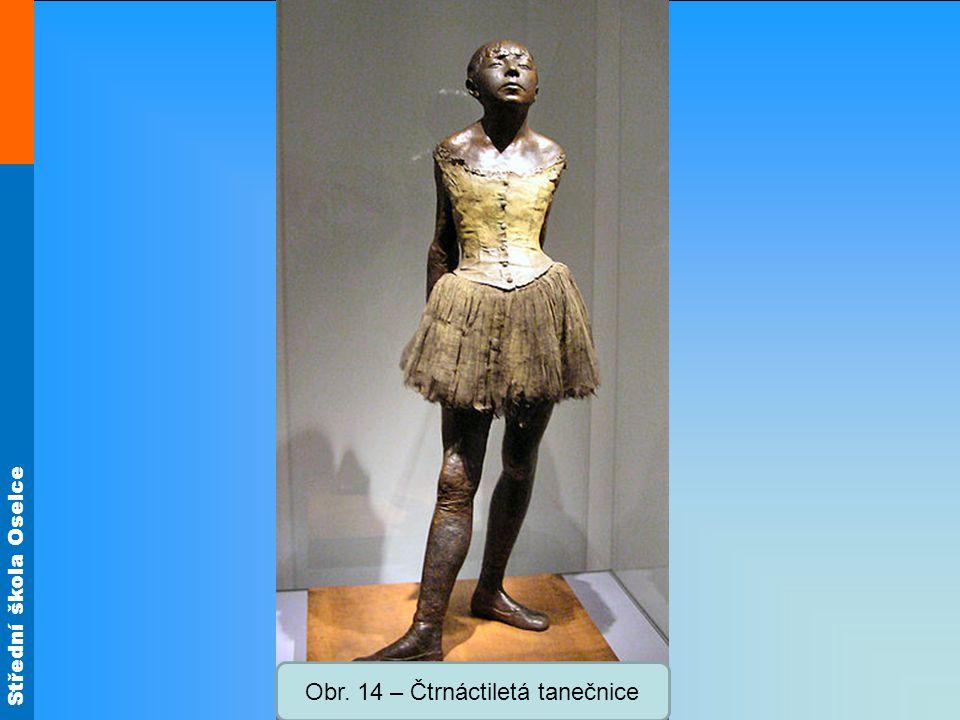 Střední škola Oselce Obr. 14 – Čtrnáctiletá tanečnice