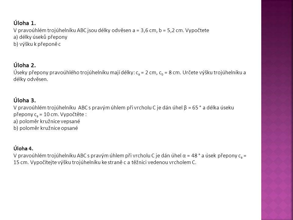 Zdroje: J.POLÁK. Přehled středoškolské matematiky.