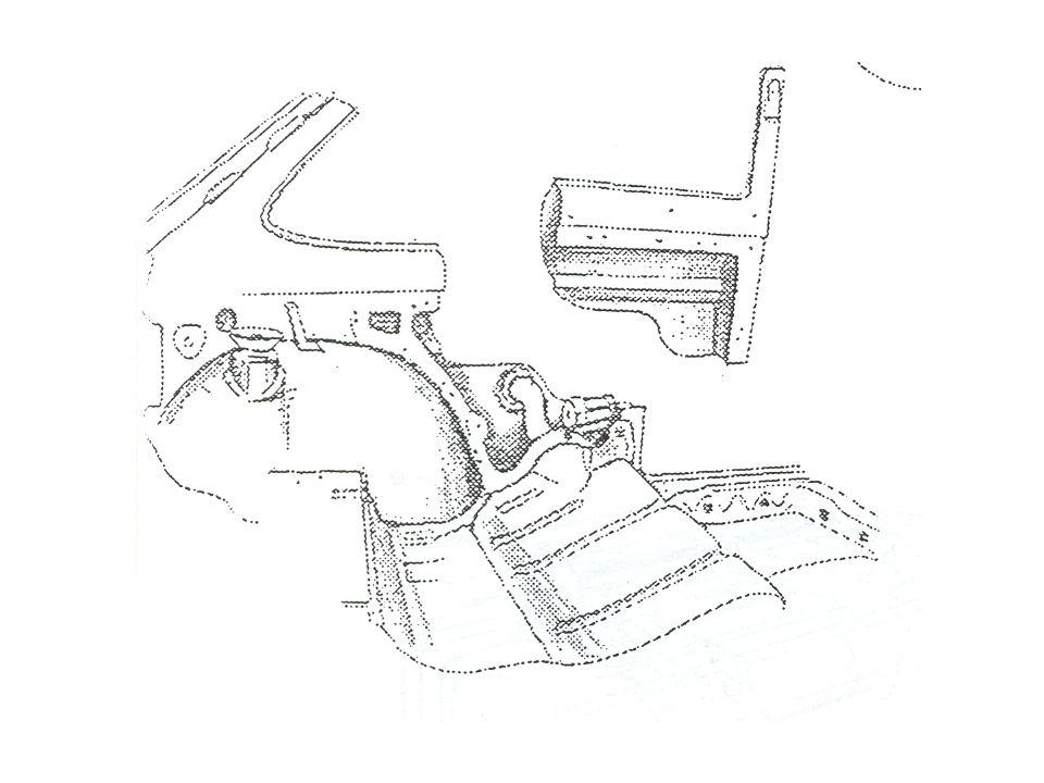 ZŘÍZENÍ TŘETÍCH DVEŘÍ Účelem je přístup k zadním sedadlům a vyproštění postižených. Zřízení třetích dveří může být provedeno různými způsoby stříhání.