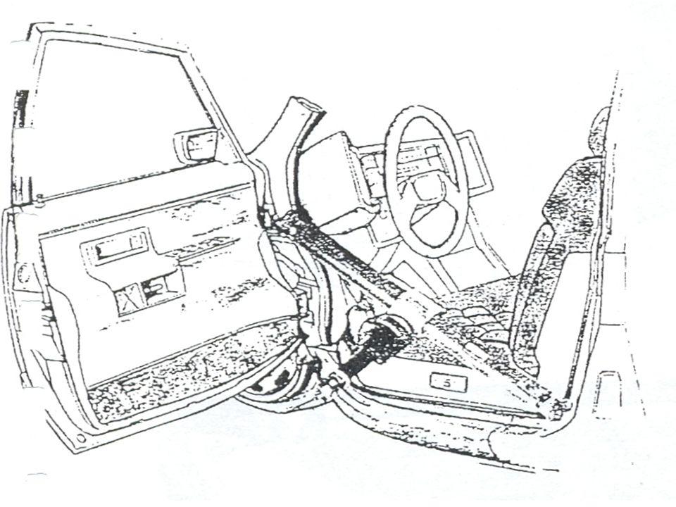 ODTAŽENÍ PŘÍSTROJOVÉ DESKY Účelem je vytvoření odstupu mezi přední a zadní části karoserie a tím uvolnění postižených.Tento posun je doprovázen posune